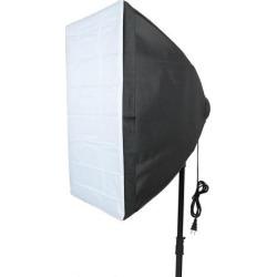 US Plug 40cmx60cm Four Flash Holder Umbrella Softbox Kit for Photo Video Studio