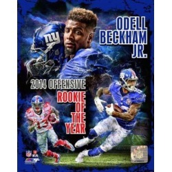 Posterazzi PFSAARS10701 Odell Beckham Jr. 2014 NFL Offensive Rookie of the Year Portrait Plus Sports Photo - 8 x 10 in.