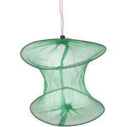 Unique Bargains 12.2' Portable Fishing Landing Net Fish Angler Mesh Keepnet for Fishermen Green