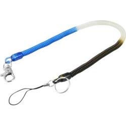 Unique Bargains Unique Bargains 14.6' Long Plastic Stretchy Spring Keychain Strap Cord Blue Black Clear