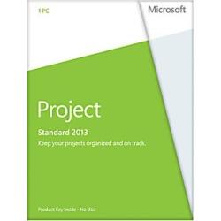 Microsoft Project 2013 Product Key Card (no media) - 1 PC