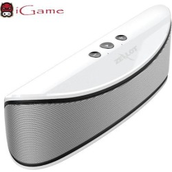 iGame Zealot S2 Portable Wireless Bluetooth Speaker with Bass, Hands-free Calling, Supports USB/TF Card - White