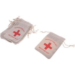 30pcs Hangover Kit Bags Bachelorette Party First Aid Bags Muslin Favors Bag