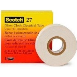 3M 15074 Scotch 27 Glass Cloth Electrical Tape, 3/4' x 66ft, 1 Pack