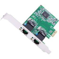 SYBA SD-PEX24033 PCI-Express x1 Dual LAN Ports Gigabit Ethernet Card, Realtek Chipset