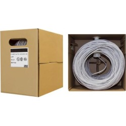 Offex Bulk Cat6 Ethernet Cable, Solid, UTP (Unshielded Twisted Pair), Pullbox, 500 foot - Gray
