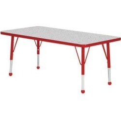 Mahar Manufacturing N3660RD-SB Rectangle Activity Table with Grey Nebula Top and Red Edge, 36 x 60 in. found on Bargain Bro India from Newegg Canada for $400.74