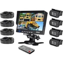 PYLE PLCMTR74 Weatherproof Backup Camera System with 7 LCD Color Monitor & 4 IR Night Vision Cameras found on Bargain Bro India from Newegg Business for $211.37
