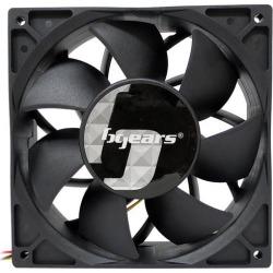 Bgears b-Blaster 24V 140x38mm 2 ball bearing High Speed 5200RPM at 308CFM, 24Volts DC fan, Black