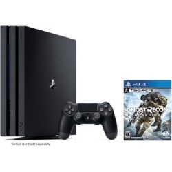 PlayStation 4 Pro 1TB Jet Black 4K HDR Gaming Console Bundle With Tom Clancy's Ghost Recon Breakpoint - 2019 New PS4 Game!