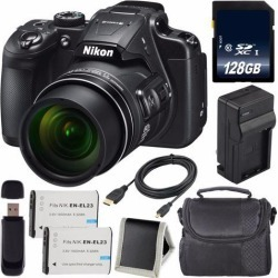 Recertified - Nikon COOLPIX B700 Digital Camera + EN-EL23 Lithium Ion Battery + Charger + 128GB SDXC Class 10 Memory Card + Case + Micro HDMI Cable +