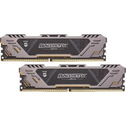 Crucial Ballistix Sport AT 3000 MHz DDR4 DRAM Desktop Gaming Memory Kit 16GB (8GBx2) CL17 BLS2K8G4D30CESTK
