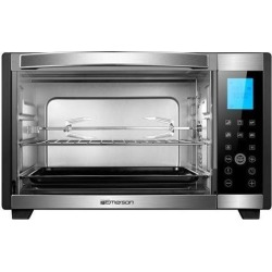 Emerson 6-Slice Convection & Rotisserie Countertop Toaster Oven with Digital Touch Control, Stainless Steel