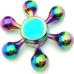 Six Side Fidget Hand Spinner Toys Stress Reducer Anti-Anxiety Helps Focusing Finger Toy