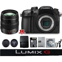Panasonic Lumix DMC GH4 Mirrorless Micro Four Thirds Digital Camera (Body Only) (International Model) with Lumix G X Vario 12-35mm f/2.8 Asph. Lens