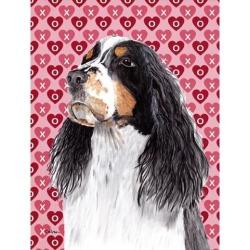 Carolines Treasures SC9277GF 15 x 15 In. Springer Spaniel Hearts Love Valentines Day Flag, Garden Size