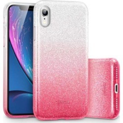 ESR iPhone XR Case, ESR Makeup Glitter Case [Three Layer] for Women Compatible with 6.1 inch iPhone XR (Released in 2018) - Ombre Ruby