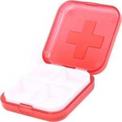 Unique Bargains Traveling Red Square Shape Plastic Pill Drug Box Case Box Organizer found on Bargain Bro Philippines from Newegg Business for $5.00