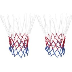 Unique Bargains 2 Pcs 20' Long Durable Sporty Nylon Basketball Nets XB8621