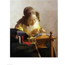 Posterazzi BALBAL2544LARGE The Lacemaker Poster Print by Johannes Vermeer - 24 x 36 in. - Large