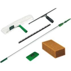 Unger PWK00 Pro Window Cleaning Kit w/8-ft. Pole, Scrubber, Squeegee, Scraper, Sponge