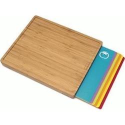 Lipper Bamboo Cutting Board with 6 Cutting Mats 8869