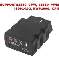 KW902 Black OBDll OBD2 ELM327 V1.5 Bluetooth 3.0 Car Fault Code Reader Scanner Diagnostic Tool