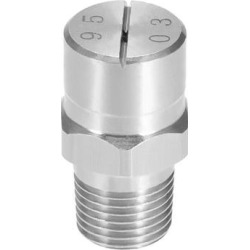 Flat Fan Spray Tip - 1/8BSPT Male Thread 304 Stainless Steel Nozzle - 95 Degree 1.1mm Orifice Diameter