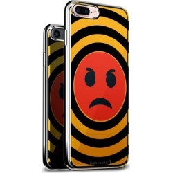 LUXENDARY RED MAD EMOJI DESIGN CHROME SERIES CASE FOR IPHONE 6/6S PLUS
