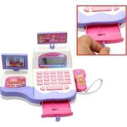 Math Toys Cash Register Supermarket Toy Display and Scanning Function Kid Educational Toy