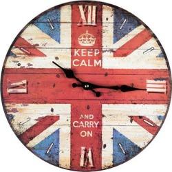 Keep calm union jack flag clock