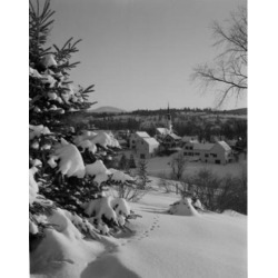 Posterazzi SAL255422787 USA New Hampshire Whitefield Village in Winter Poster Print - 18 x 24 in.
