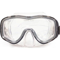 6.5' Zeus Black and Clear Pro Mask Swimming Pool Accessory for Adults