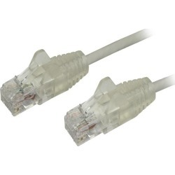StarTech N6PAT6INGRS Cat6 Ethernet Cable - 6 in - Gray - Slim - Snagless RJ45 Cable - Network Cable - Ethernet Cord - Cat 6 Cable - 6in