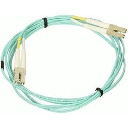 Monoprice Fiber Optic Cable - 2 Meter - Aqua LC to LC, OM3, 50/125 Type, Multi Mode, 10Gb, Duplex