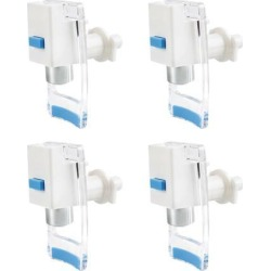 Blue Water Cooler Faucet Plastic Water Dispenser Clean Spigot Fits Ro System Adaptor Hot Cold Water Faucet Tap Replacement 4pcs