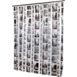 Carnation Home Fashions Living Room Decorative New York Vinyl Shower Curtain