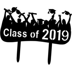 Graduate Cake Toppers Acrylic Class of 2019 Cake Toppers for Grad Parties 2
