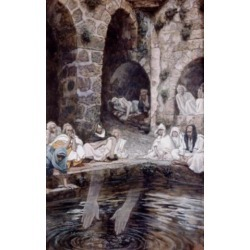 Posterazzi SAL9999968 The Pool of Bethesda James Tissot 1836-1902 French Poster Print - 18 x 24 in.
