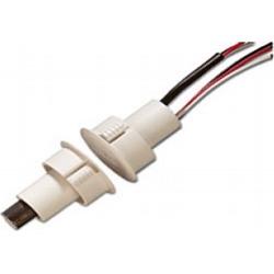 Recessed Steel Door Contact w/ Wire Leads,1-Diameter, DPDT, GRY