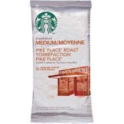 Starbucks 11018197 Coffee, Pike Place, 2.5oz, 18/Box