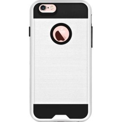 Amzer Tough Armor iPhone 6s Plus Case with Extreme Heavy Duty Protection and Air Cushion Techonology for iPhone 6s Plus/ iPhone 6 Plus - White/ Black