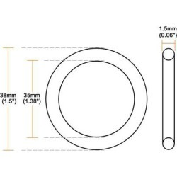 O-Rings Nitrile Rubber 35mm x 38mm x 1.5mm Seal Rings Sealing Gasket 5pcs