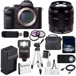 Sony Alpha a7R II Mirrorless Digital Camera (International Model ) + Sony E-Mount SEL 1855 18-55mm Zoom Lens (Black) + 49mm 3 Piece Filter Kit 6AVE.