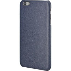 NEW Cole Haan Cross-Hatch Leather Case for iPhone 6 Plus / 6s Plus MARINE BLUE