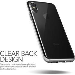 VRS Design [Crystal Bumper] Clear Transparent Bumper Case for iPhone X - Satin Silver