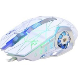 DOBACNER Wired USB computer gaming mouse lol esports mouse 6D game glowing mouse