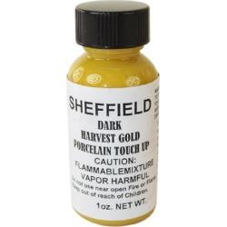 Sheffield, 1452, 1 OZ Bottle, Dark Harvest Gold, Porcelain Touch Up Paint, For Porcelain Surfaces