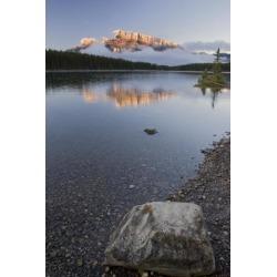 Posterazzi DPI1835713LARGE Mountain Lake Banff National Park Alberta Canada Poster Print, Large - 22 x 34