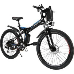 ANCHEER 26inch 36V Foldable Electric Power Mountain Bike with Lithium-Ion Battery
